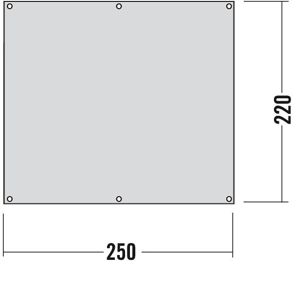 Zeltunterlage 250 x 220 cm