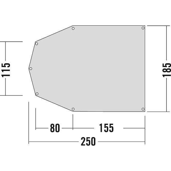 Zeltuntlage 250 x 185 cm