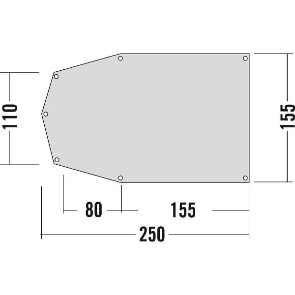 Zeltuntlage 250 x 155 cm